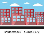 cityscape with road and lamp... | Shutterstock .eps vector #588066179