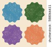 set of retro vintage colorful... | Shutterstock .eps vector #588066611