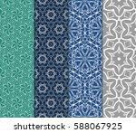 set of romantic geometric... | Shutterstock .eps vector #588067925