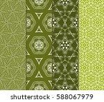 set of romantic geometric... | Shutterstock .eps vector #588067979