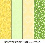 seamless patterns set. vintage... | Shutterstock .eps vector #588067985
