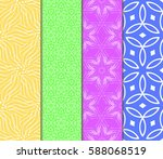 seamless set floral pattern.... | Shutterstock .eps vector #588068519