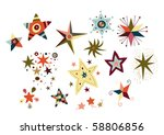 collection of decorative stars.   Shutterstock .eps vector #58806856
