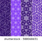 seamless set floral pattern.... | Shutterstock .eps vector #588068651