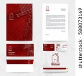 corporate identity template... | Shutterstock .eps vector #588073169