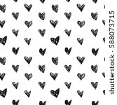 seamless pattern of hand drawn... | Shutterstock . vector #588073715