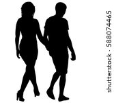 silhouette man and woman... | Shutterstock .eps vector #588074465
