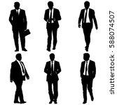 set silhouette businessman man... | Shutterstock .eps vector #588074507