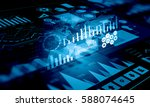 sales data and dynamics    .... | Shutterstock . vector #588074645