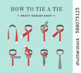 instructions on how to tie a... | Shutterstock .eps vector #588075125