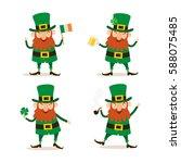 Saint Patricks Day. Set Of Fou...