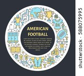 american football banner with...   Shutterstock .eps vector #588075995