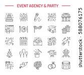event agency  wedding... | Shutterstock .eps vector #588076175