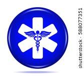 medical symbol icon. internet... | Shutterstock . vector #588077351