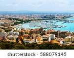 majorca  spain. aerial view of... | Shutterstock . vector #588079145