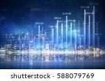 modern business city background ... | Shutterstock . vector #588079769