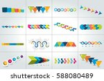 mega set of timeline... | Shutterstock .eps vector #588080489