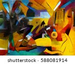 alternative reproductions of... | Shutterstock . vector #588081914