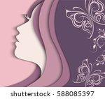 vector illustration of woman's... | Shutterstock .eps vector #588085397