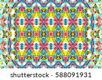 colorful horizontal ornament... | Shutterstock . vector #588091931