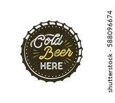 vintage style beer badge. ink... | Shutterstock . vector #588096674