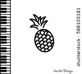 web line icon. pineapple | Shutterstock .eps vector #588103181