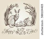 Easter Vintage Illustration...