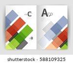 business a4 business brochure... | Shutterstock .eps vector #588109325
