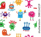 cute seamless pattern with a... | Shutterstock . vector #588116219