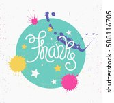 thanks   vector hand drawn... | Shutterstock .eps vector #588116705