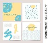 template  banners. vector brush ... | Shutterstock .eps vector #588116879