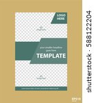 flyer concept brochure template ... | Shutterstock .eps vector #588122204