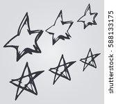 doodle stars hand drawn | Shutterstock .eps vector #588133175