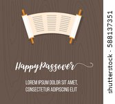 happy passover poster with... | Shutterstock .eps vector #588137351