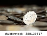 russian ruble coin | Shutterstock . vector #588139517