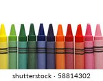 Row Of Crayons