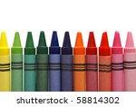 row of crayons | Shutterstock . vector #58814302