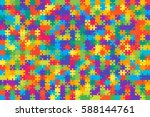 puzzle background  banner ... | Shutterstock .eps vector #588144761