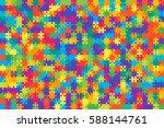 500 Multi Colored Puzzles...
