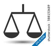 retro scales icon. scales logo. ... | Shutterstock .eps vector #588153689