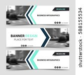 three horizontal business... | Shutterstock .eps vector #588155534