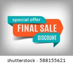 Stock vector final sale banner discount tag special offer website sticker on a gray abstract background 588155621