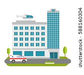 city hospital and clinic... | Shutterstock .eps vector #588160304