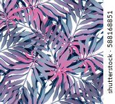 summer exotic floral tropical... | Shutterstock .eps vector #588168851
