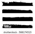 set of grunge and ink stroke... | Shutterstock .eps vector #588174515