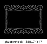 ornamental gray frame | Shutterstock .eps vector #588174647
