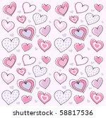 heart seamless pattern | Shutterstock .eps vector #58817536