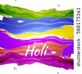 abstract happy holi colorful... | Shutterstock .eps vector #588175361