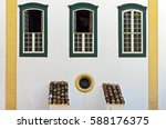 Windows In Colonial Style Of...