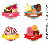 candy labels realistic set with ... | Shutterstock .eps vector #588177725